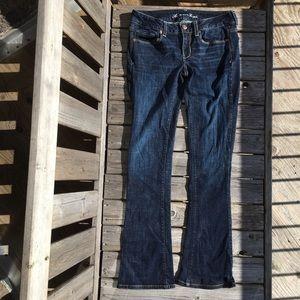 AEO Skinny Kick Sequin Stretch Jeans